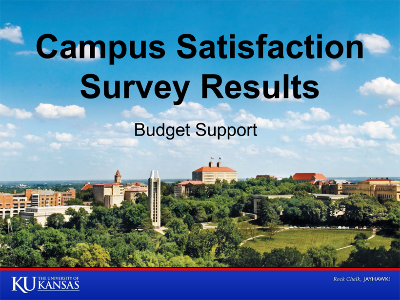 Campus Satisfaction Survey - Budget