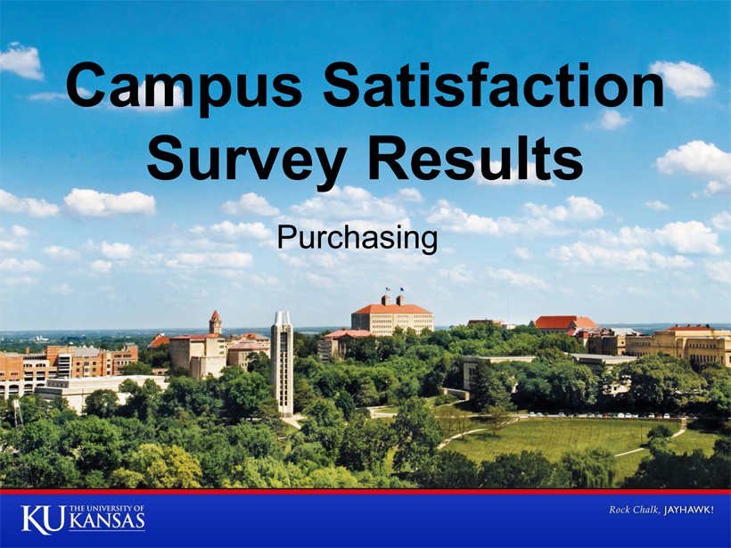 Campus Satisfaction Survey - Purchasing
