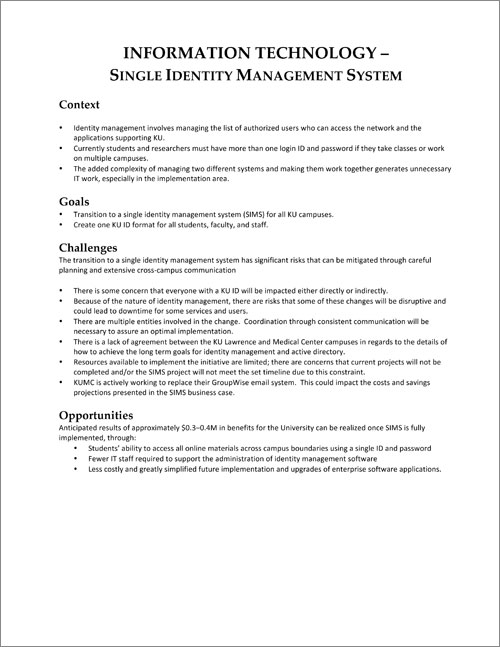 Single Identity Management System