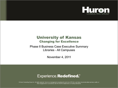 Huron Procurement Report   Changing For Excellence