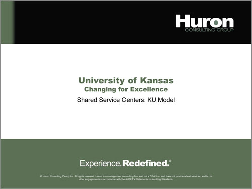Huron Shared Service Centers Report