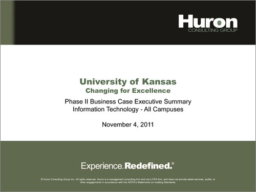 Huron Information Technology Report